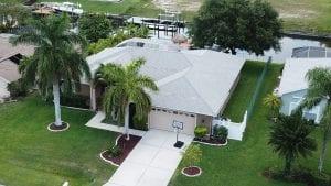 Aerial Photo Pool Home